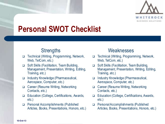 Personal swot analysis essay